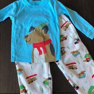 Carters 2 piece Pajamas with Fleece Bottom sz 2T